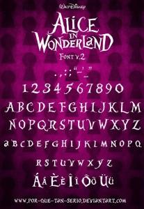 http://www.dafont.com/alice-in-wonderland.font#bubblen_lineq_copyandpastebanned