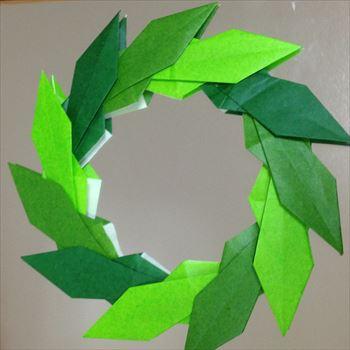 簡単 折り紙 折り紙リース作り方簡単 : kakei-smile.com
