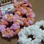 材料は毛糸とストローシュシュだけ♡簡単シュシュの作り方♪