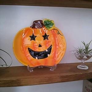 お化けかぼちゃの皿