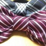 ダイソー・セリア100均ネクタイのリメイクで制服リボンの作り方